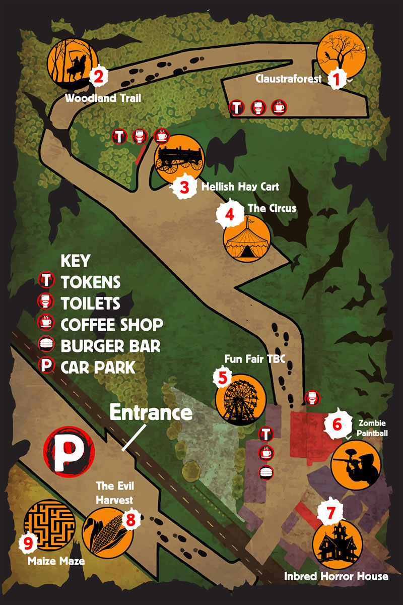 Fright Night Park Map 2016