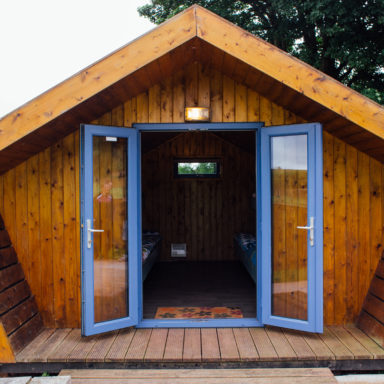 Entrance to a Glamping Hut