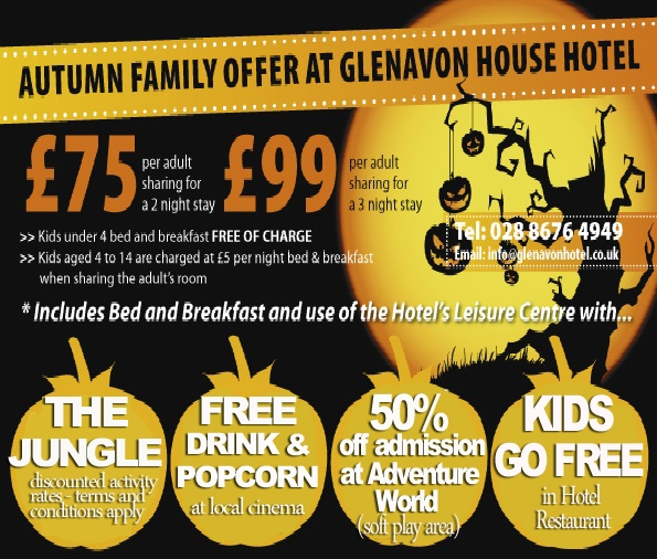 glenavon hotel autumn flyer 2015 - Yellow Hotel 2015