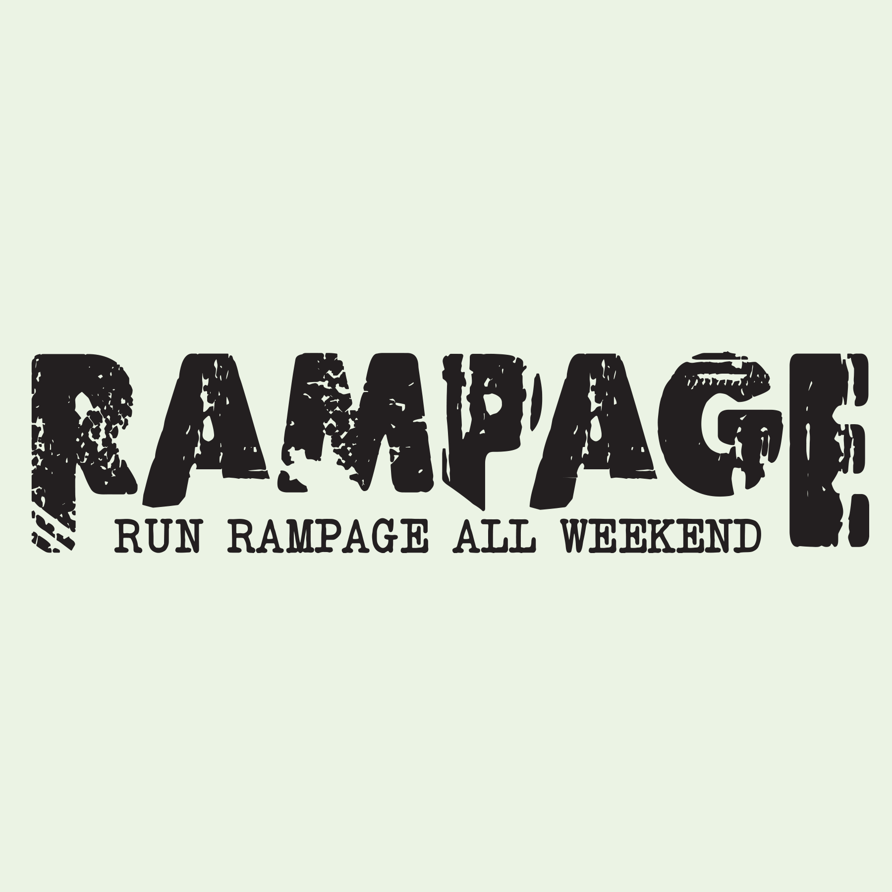 Rampage Vector PhotoShop green background