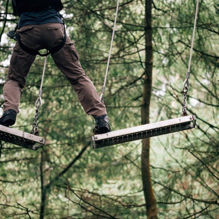 Tree Tops   customer on metal planks edit