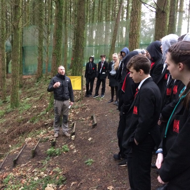 Bob talk with Rainey Students
