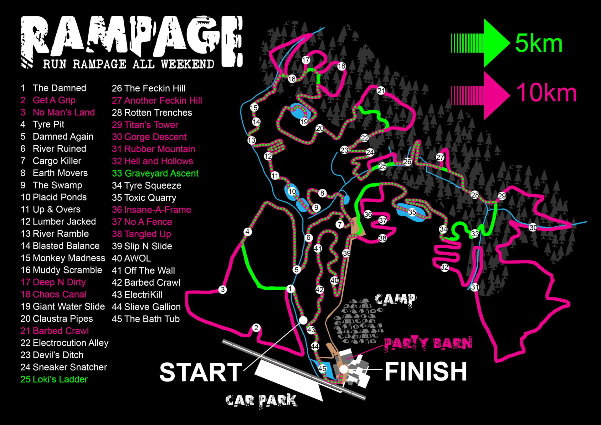 Rampage neon map