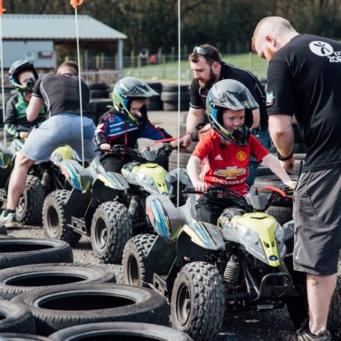 FFD   Quads   kids lining up to go with instructors