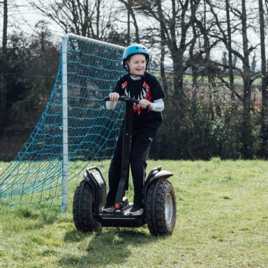 FFD   Segways   kid in front of net