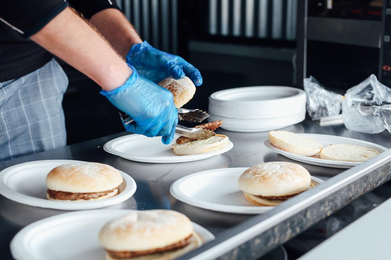 Food   Holgate prepping burgers