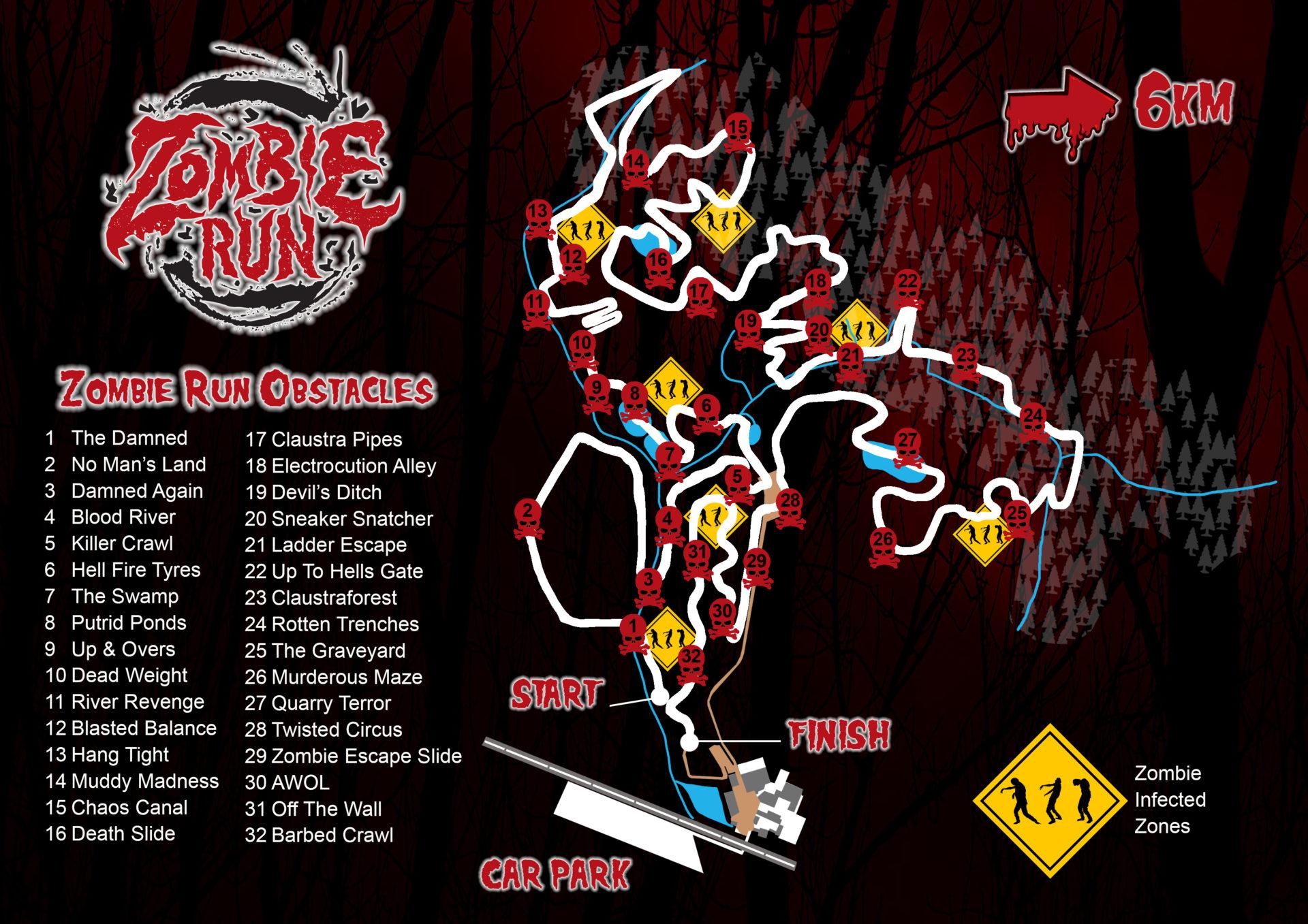 Zombie Run 2017 map