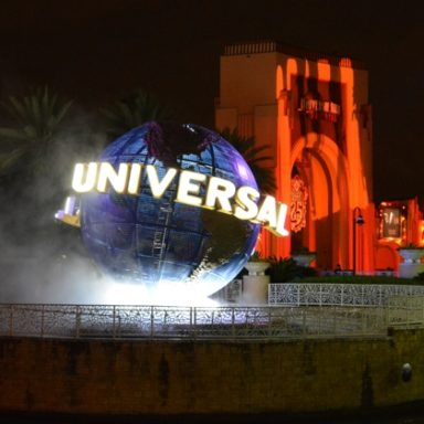 The Universal Globe at Universal Orlando Resorts for Halloween Horror Nights 2015 Halloween Horror Nights at Universal Orlando Resorts