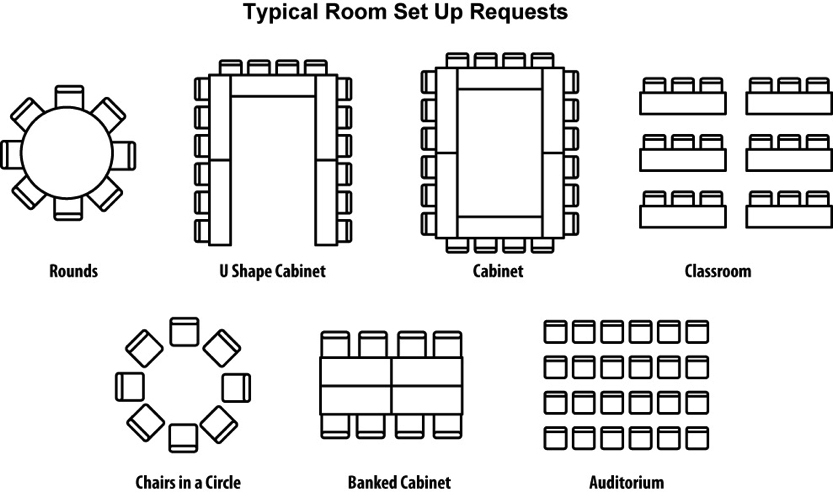 dining room layout conference setup 7852 833 493