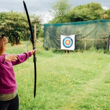 Archery   customer at top range