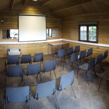 Conference Log Cabin Chair Layout
