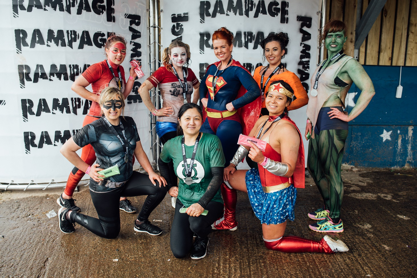 Superheros at Rampage