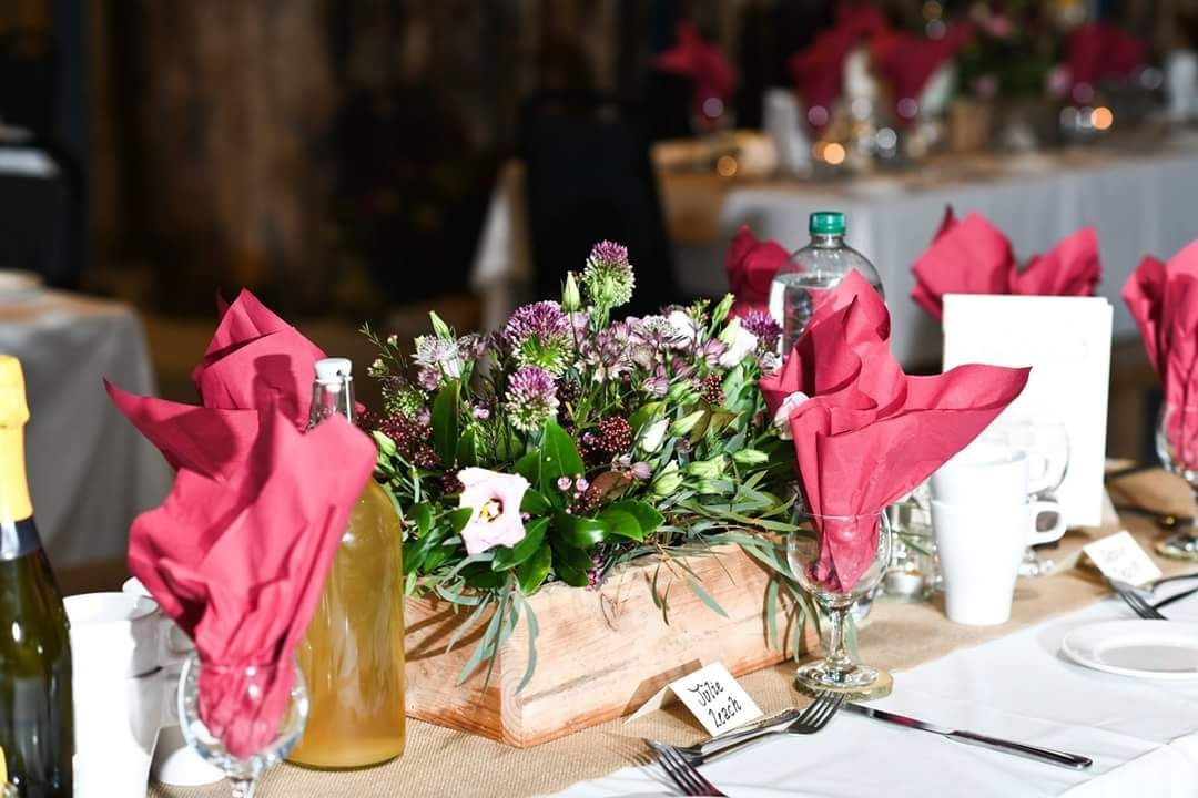 Table set up with flowers