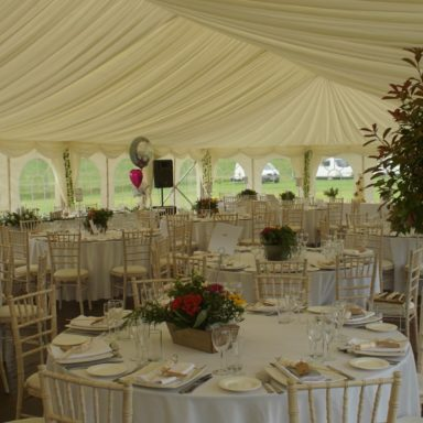 Wedding marquee set up 2