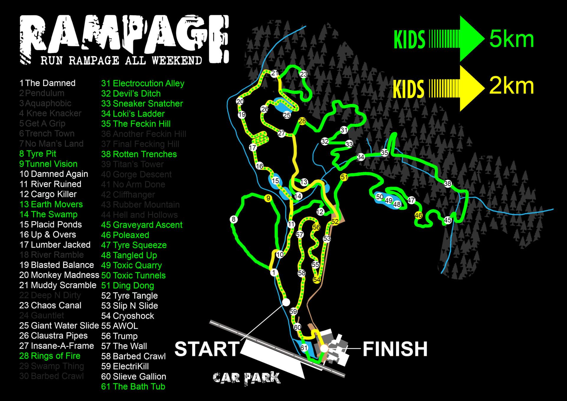Kids Rampage neon map 2018
