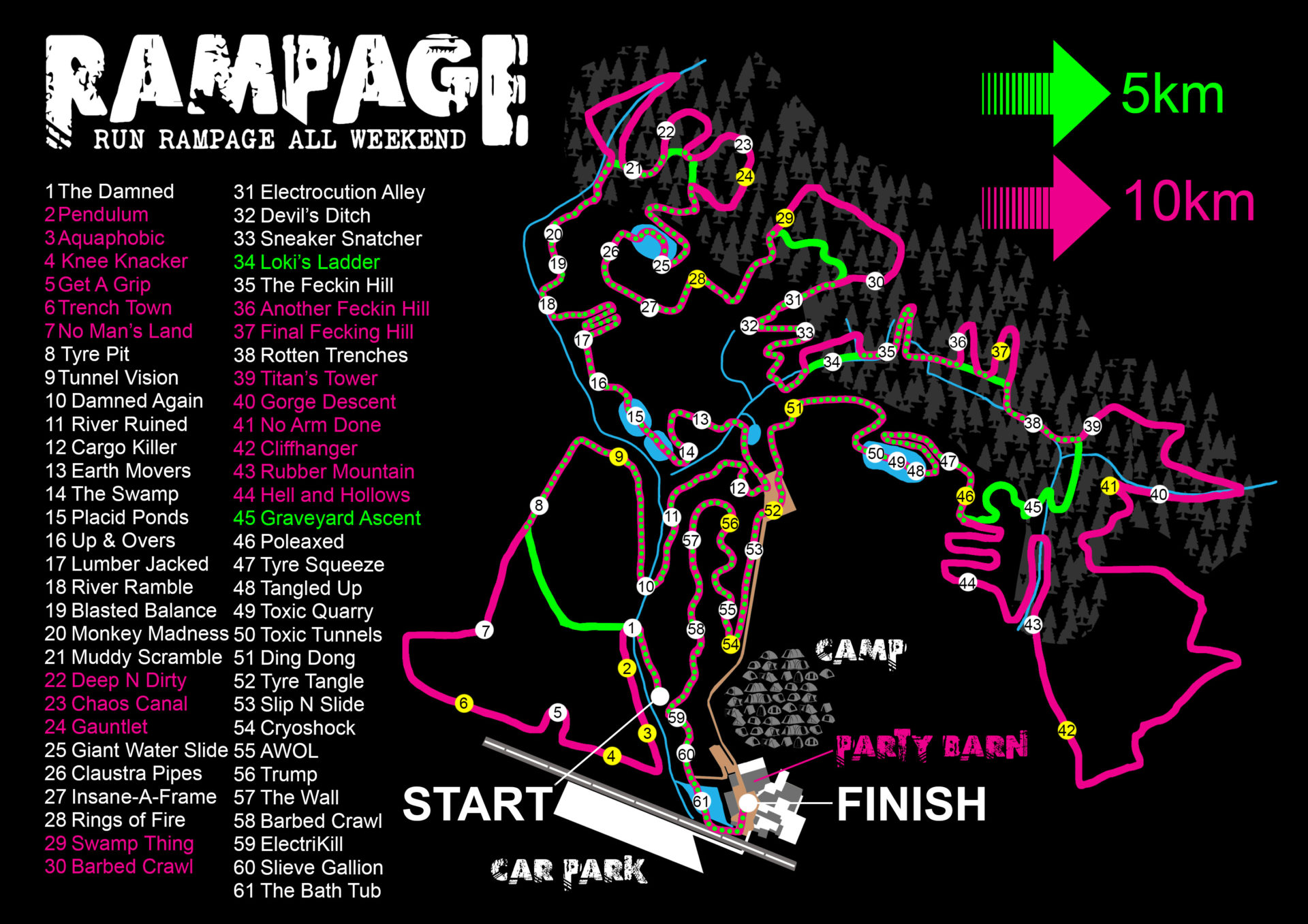 Rampage neon map 2018