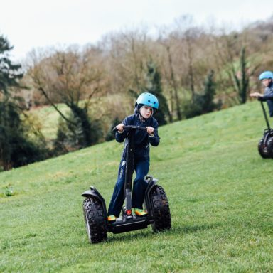 Segways   kid leaning to right