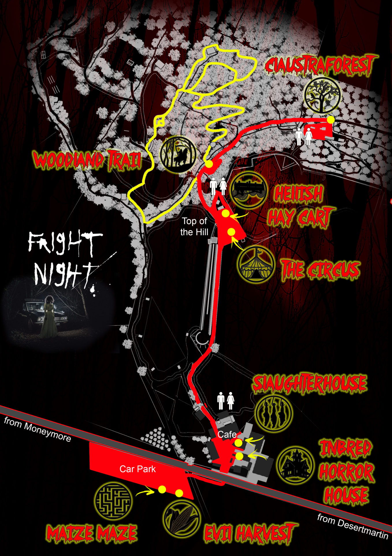 2018 Fright Night Map