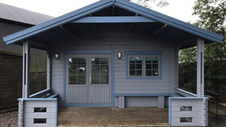Front image of Log Cabin