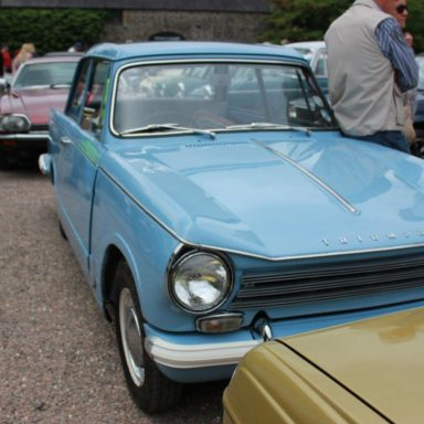 Mid Ulster Vintage rally blue Triumph