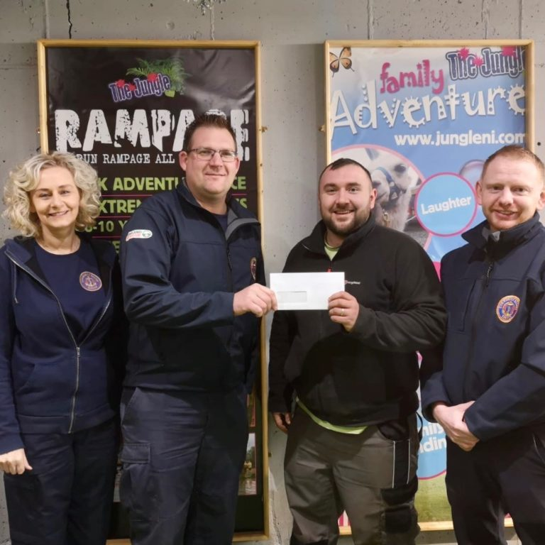 Community Rescue Service cheque handover