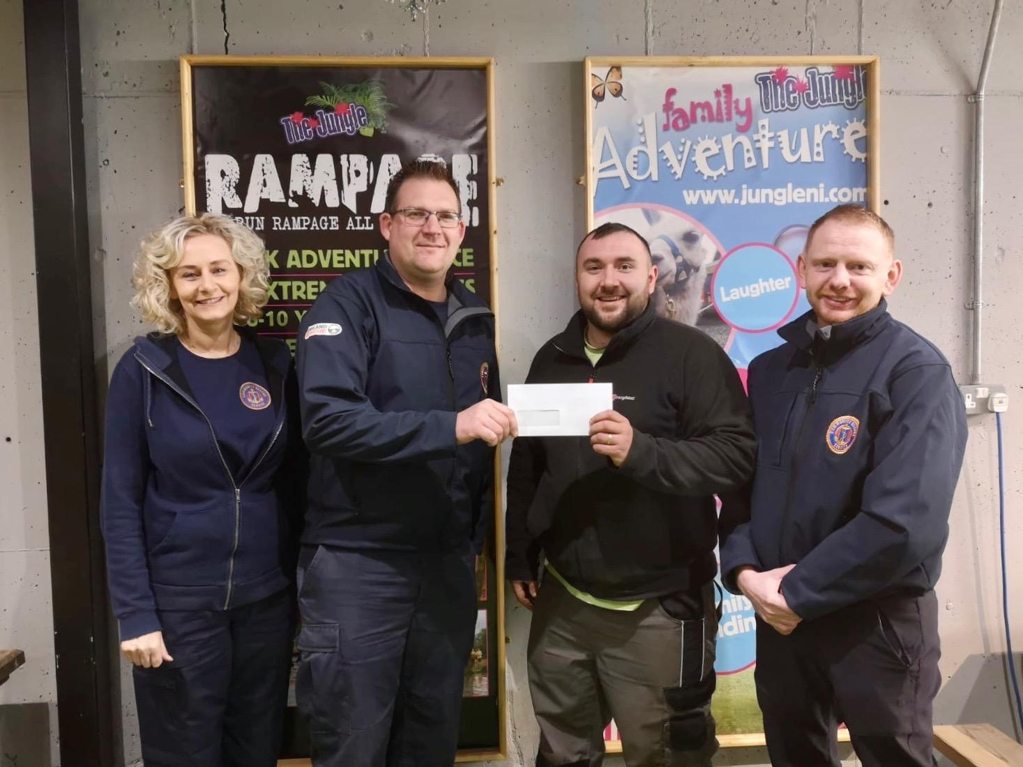 Community Rescue Service cheque handover